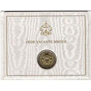 Vatican, 2 euro 2013, Siège Vacant
