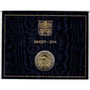 Vatican, 2 euro 2014, 25ème anniv. De la chute du mur de Berlin