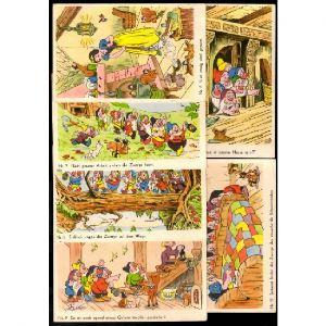 WALT DISNEY - BLANCHE NEIGE - 21 cartes postales anciennes - Numérotés de N°1 à 20 et N°23 / Ecrit en allemand